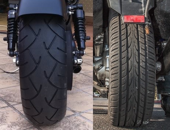 Darkside Motorcycle Car Tire
