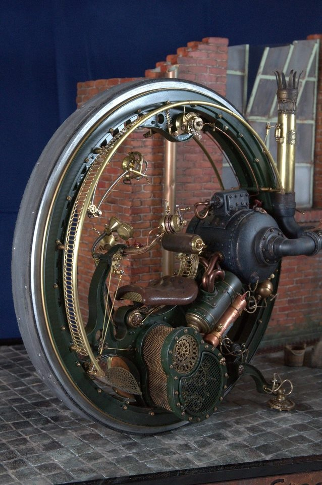 Steampunk Monocycle