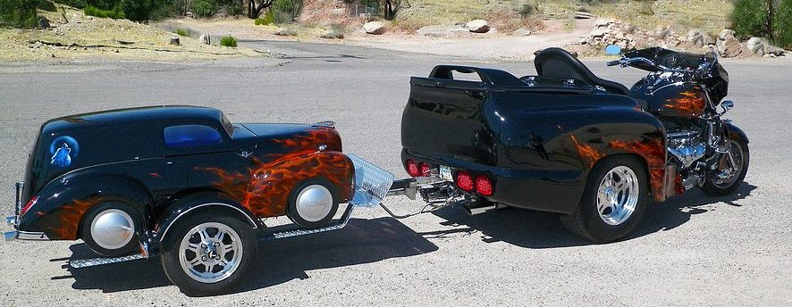 Car Replica Motorcycle Luggage Trailers