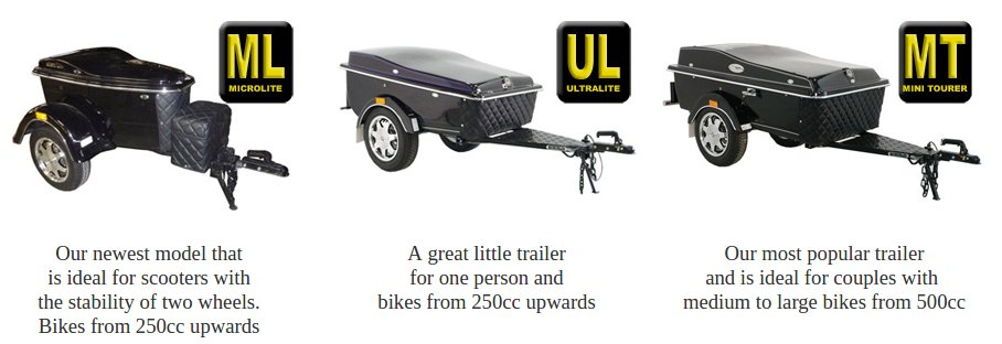 Classic Motorcycle Luggage Trailer