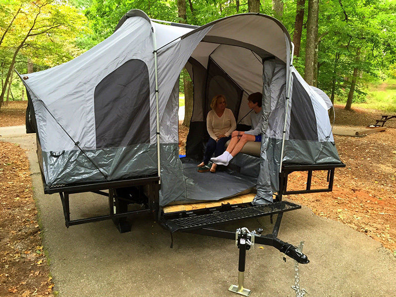 Folding Camper Tent Utility Motorcycle Camping Trailer Haul N Ride