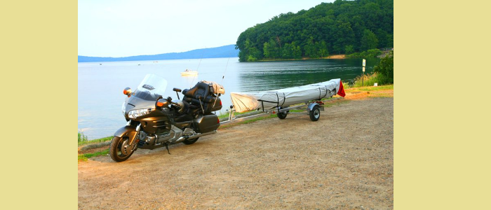 Motorcycle Canoe Trailer