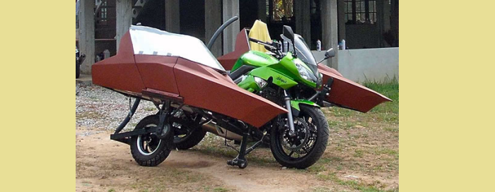Wallick Dual Leaning Motorcycle Sidecar