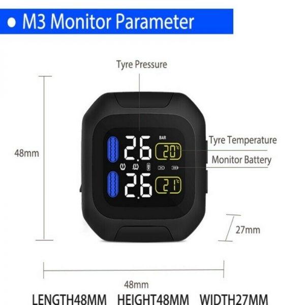 Motorcycle Tyre Tire Pressure Monitor