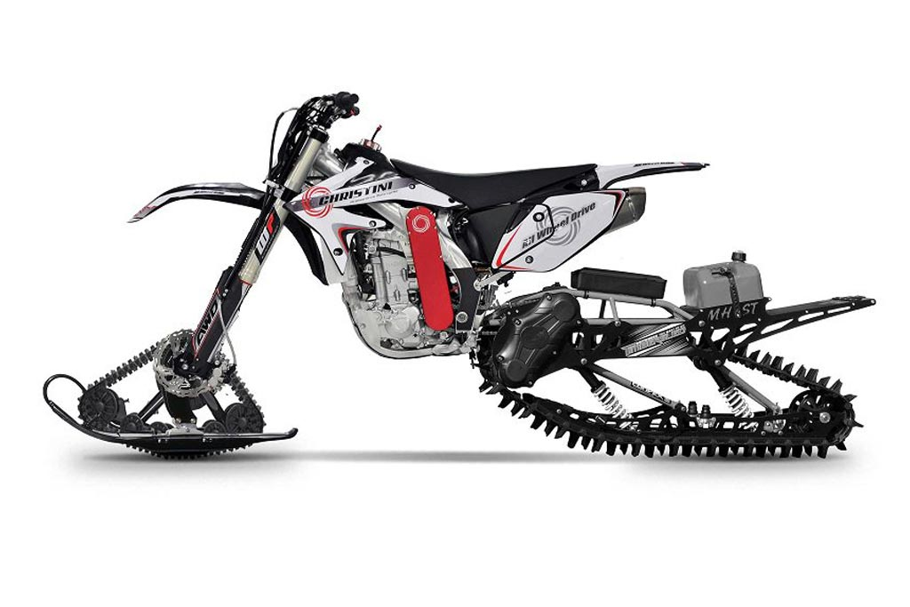 Christini All Wheel Drive Snow Track Driven Motorcycle