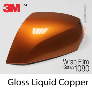 Gloss Liquid Copper Vinyl Wrap Motorcycle