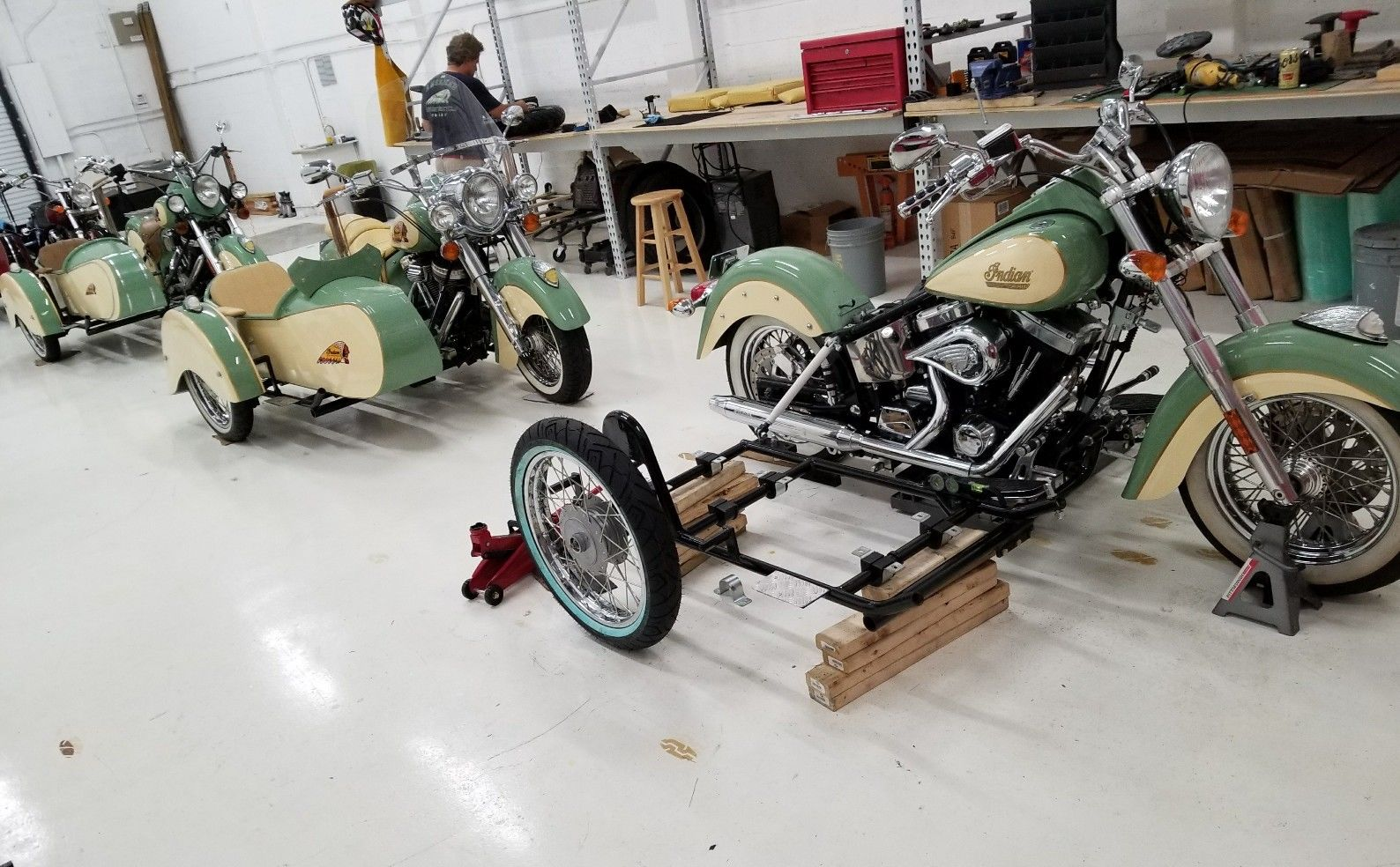 New Indian Motorcycle Sidecar – Right Mount – Haul N Ride