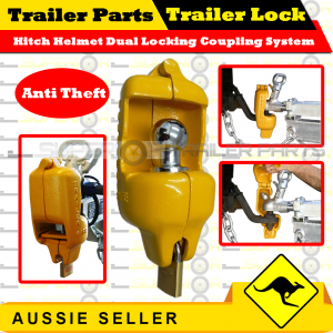 Motorcycle Helmet Trailer Hitch Lock
