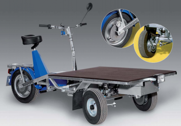 Elmoped Transporter Reverse Cargo Motorcycle Scooter Trike