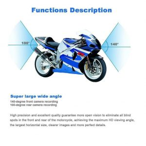 Motorcycle Dual Lens Front/Rear Camera