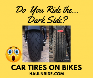 Ride the Dark Side Motorcycle Car Tires