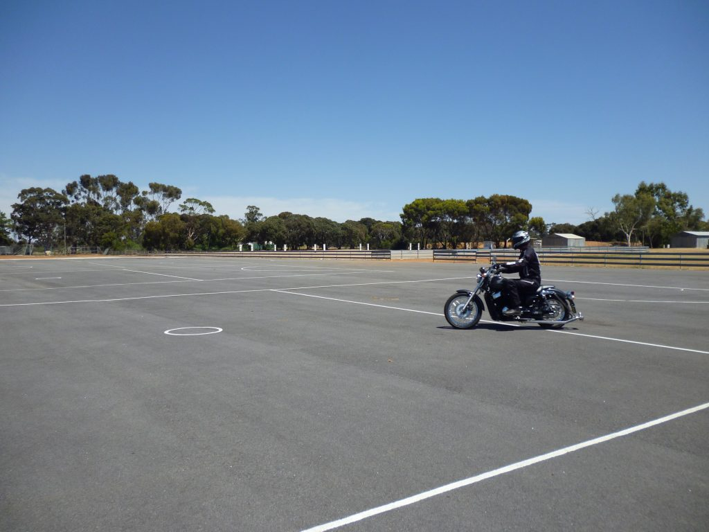 Motorcycle Instruction Controlled Stop