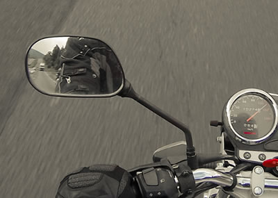 Motorcycle Safety Mirror Check