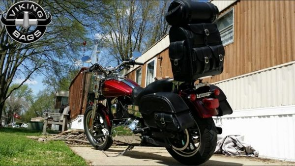 Viking Classic Motorcycle Sissy Bar Tail Bag