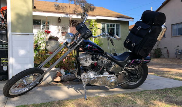 Chrome Buckle Sissy Bar Bag