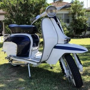 1964 Italian TV3 Cambridge Lambretta Scooter Moped Motorcycle