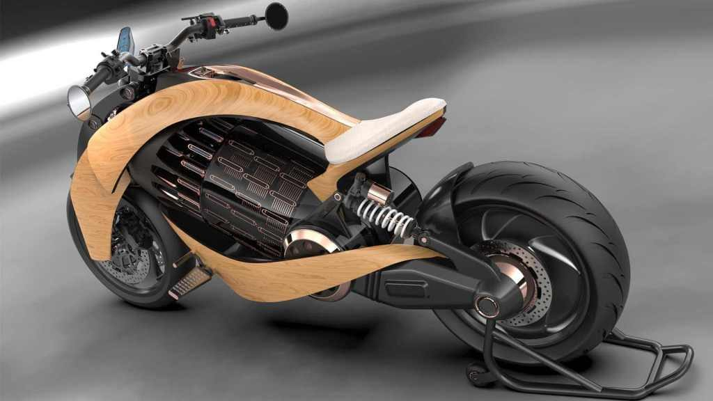 Newron Electric Wooden Motorcycle
