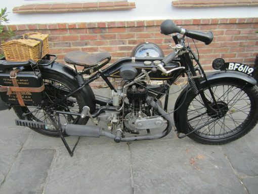 Rare Vintage 1924 AJS Motorcycle for Sale